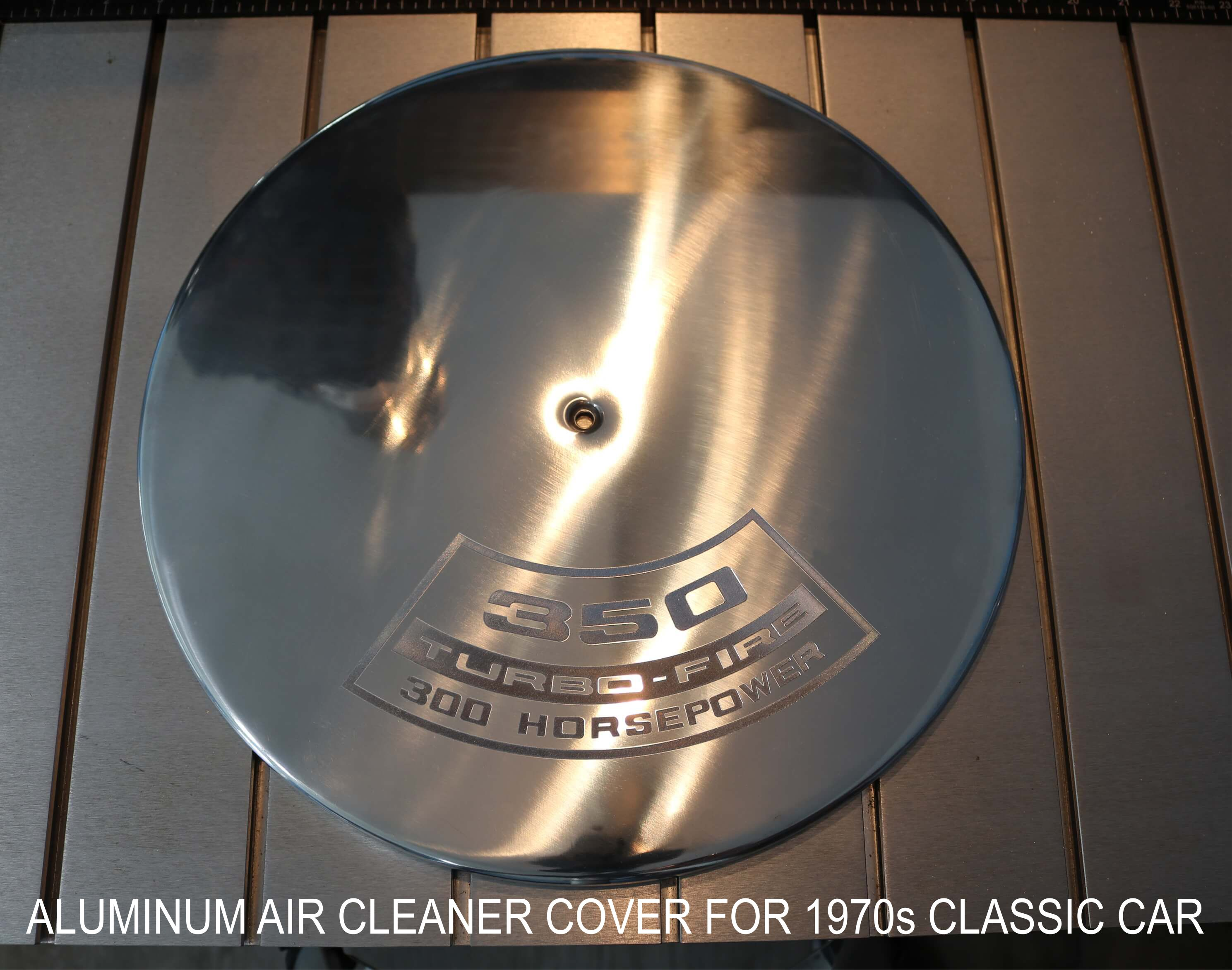 Air Cleaner Cover Diamond Drag Engraved