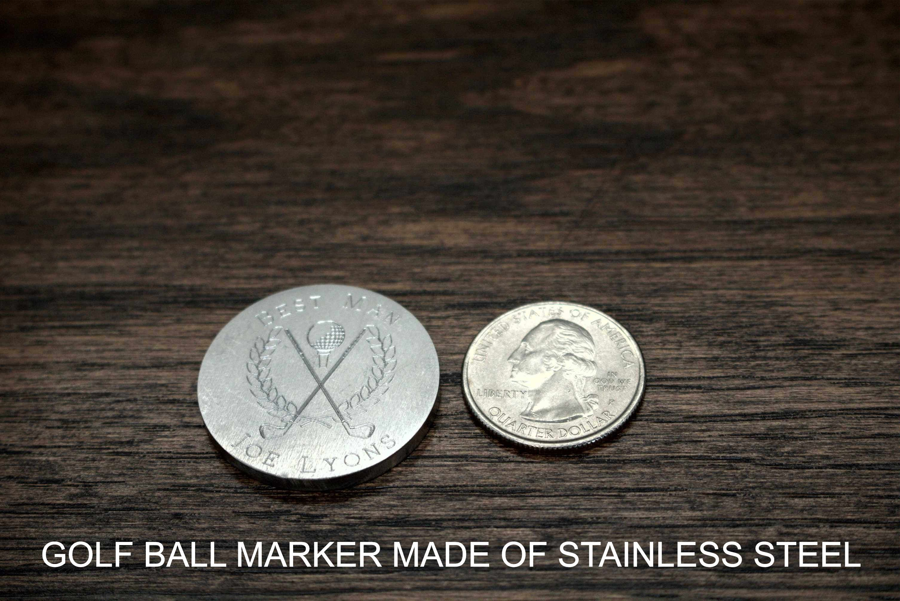 Golf Ball Marker Diamond Drag Engraved