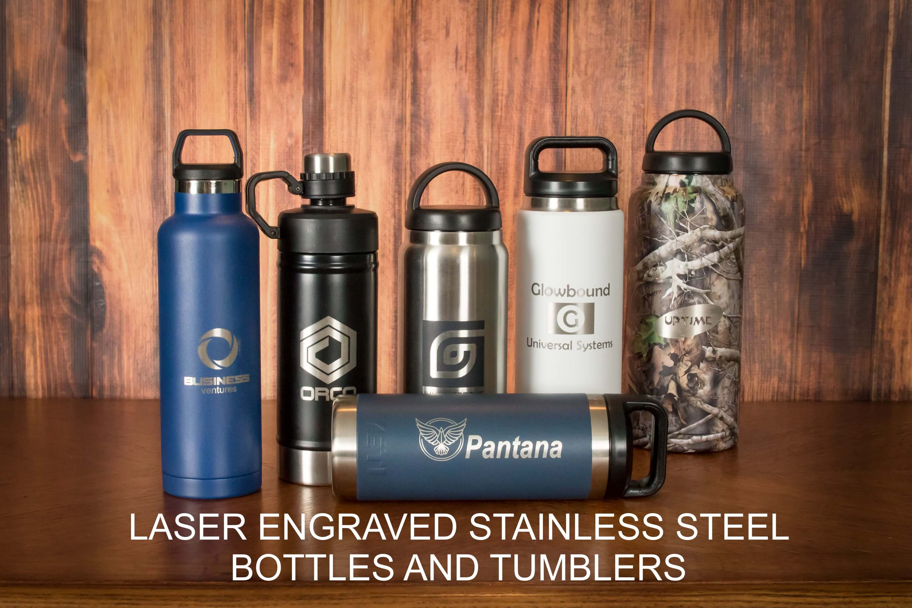 Laser Engraved Bottles and Tumblers