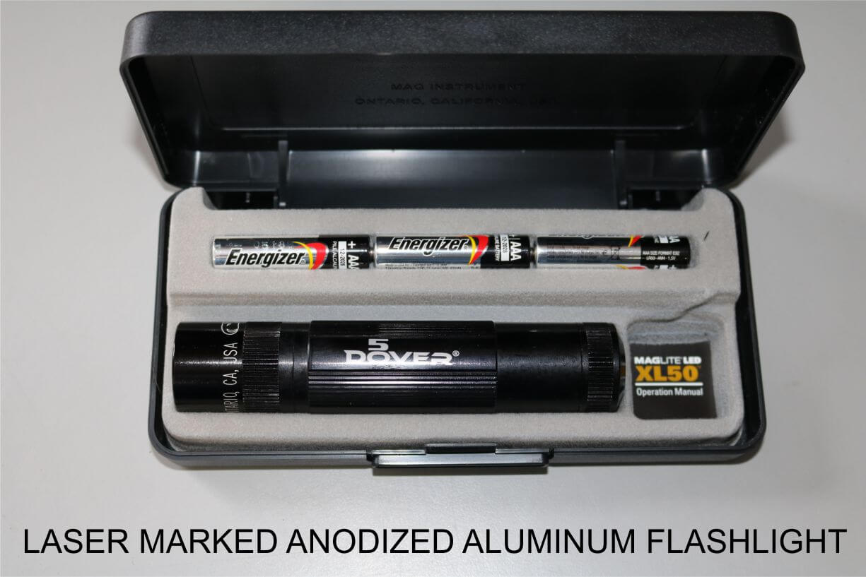 Laser Marked Anodized Aluminum Flashlight