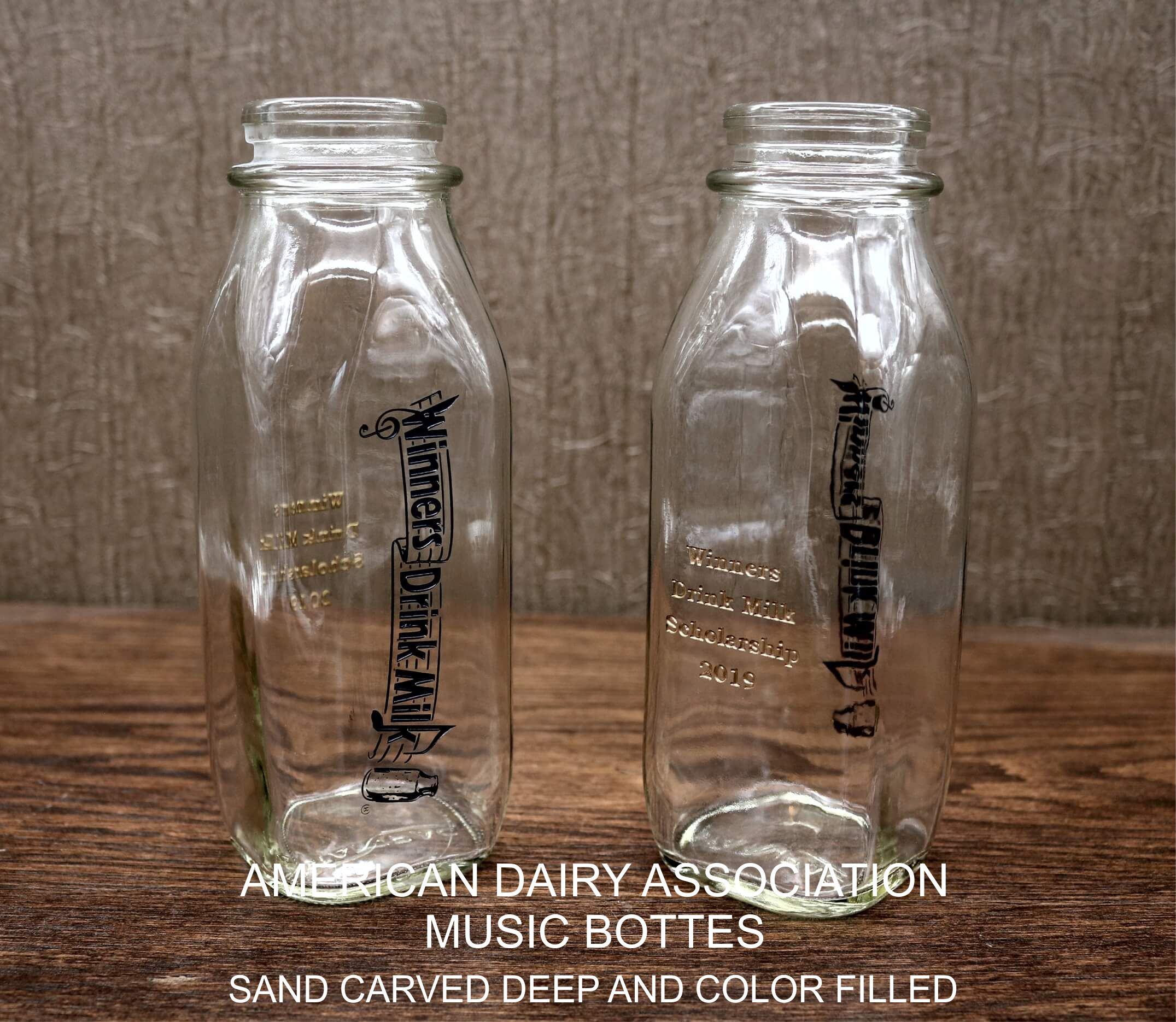 AMA Music Milk Bottles