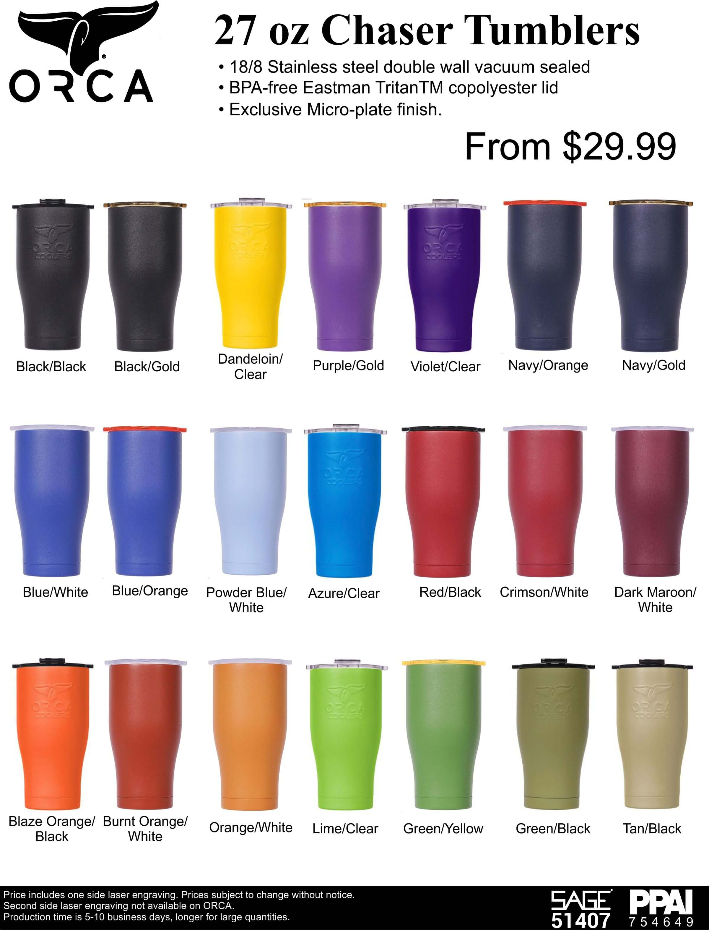 Orca 27 oz Chaser Tumblers