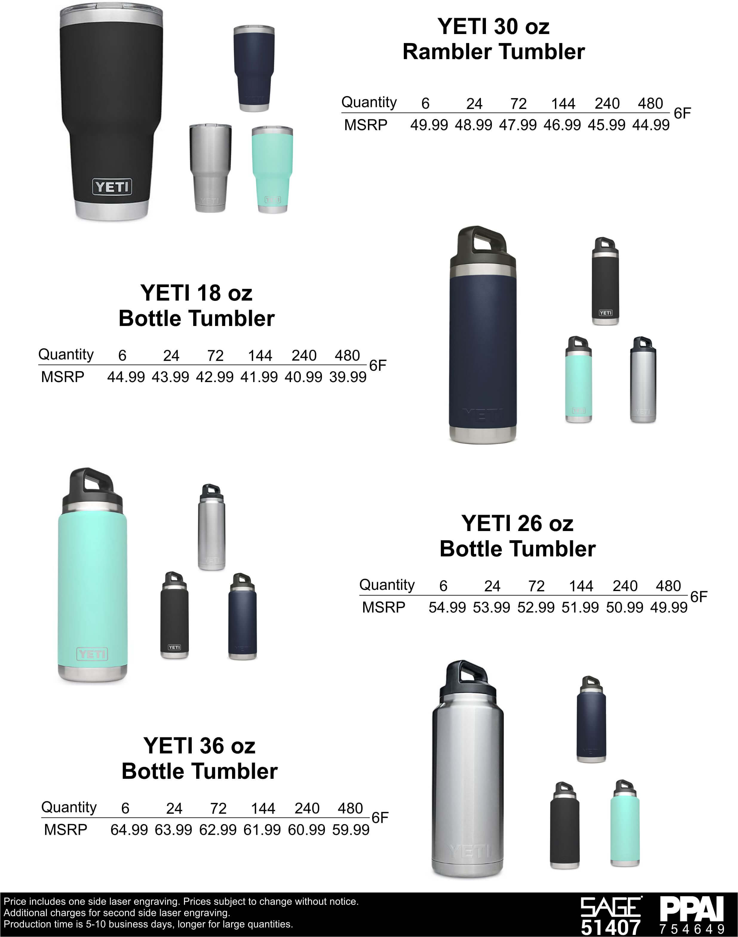 YETI Rambler Tumblers and Bottles