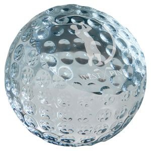 "2 3/8"" Crystal Golf Ball Paperweight"
