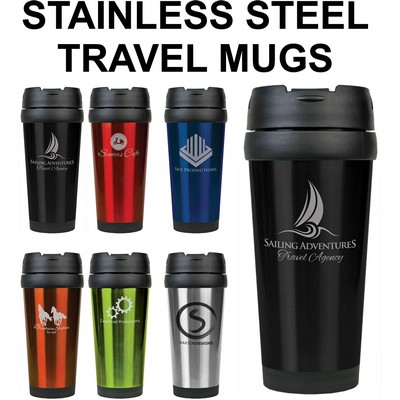 16 oz Stainless Steel Laser Engraved Tumbler