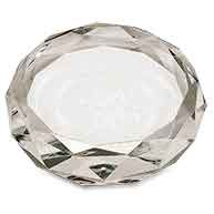 "3"" Clear Round Crystal Paperweight"